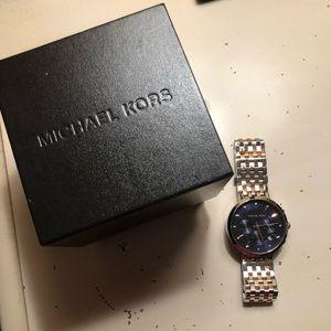 Michael Kors Rose Gold / Silver Chronograph Watch